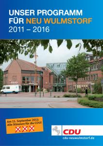 CDU Wahlprogramm 2011