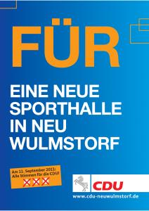 FÜR EINE NEUE SPORTHALLE IN NEU WULMSTORF