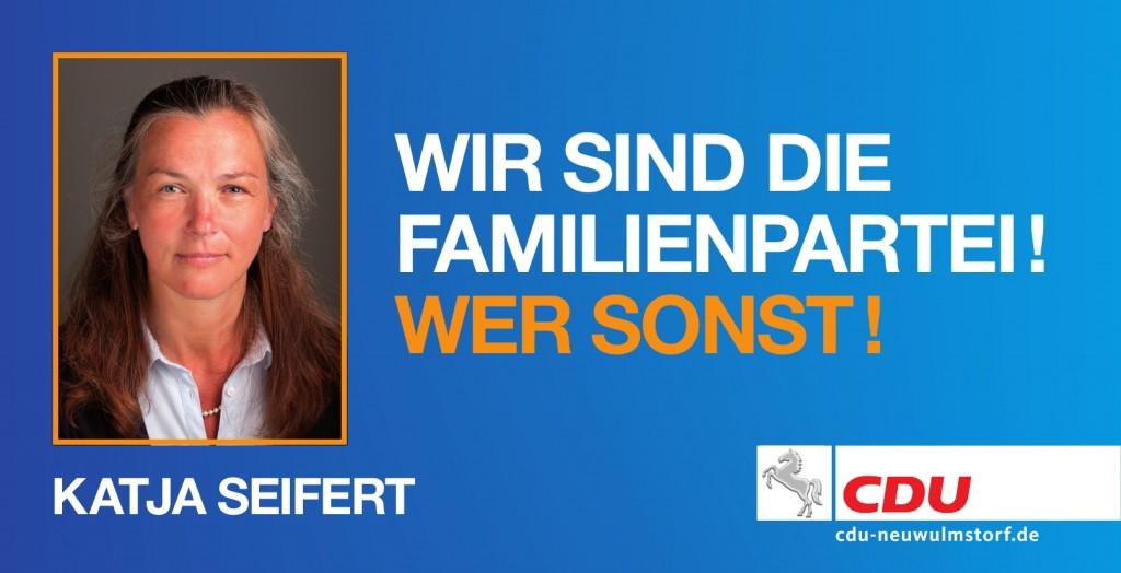 """CDU Wahlplakat """"Wir sind die Familienpartei!"""""""